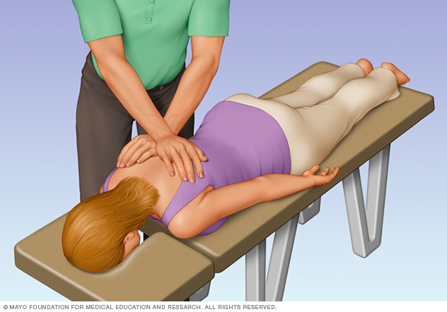 Person receiving a chiropractic adjustment