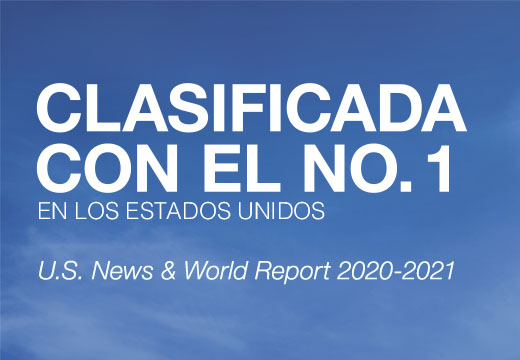 Clasificado con el No. 1 en los Estados Unidos. U.S. News & World Report 2019-2020.