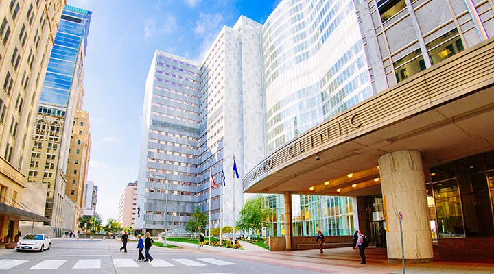 Downtown Campus of Mayo Clinic in Rochester, Minnesota